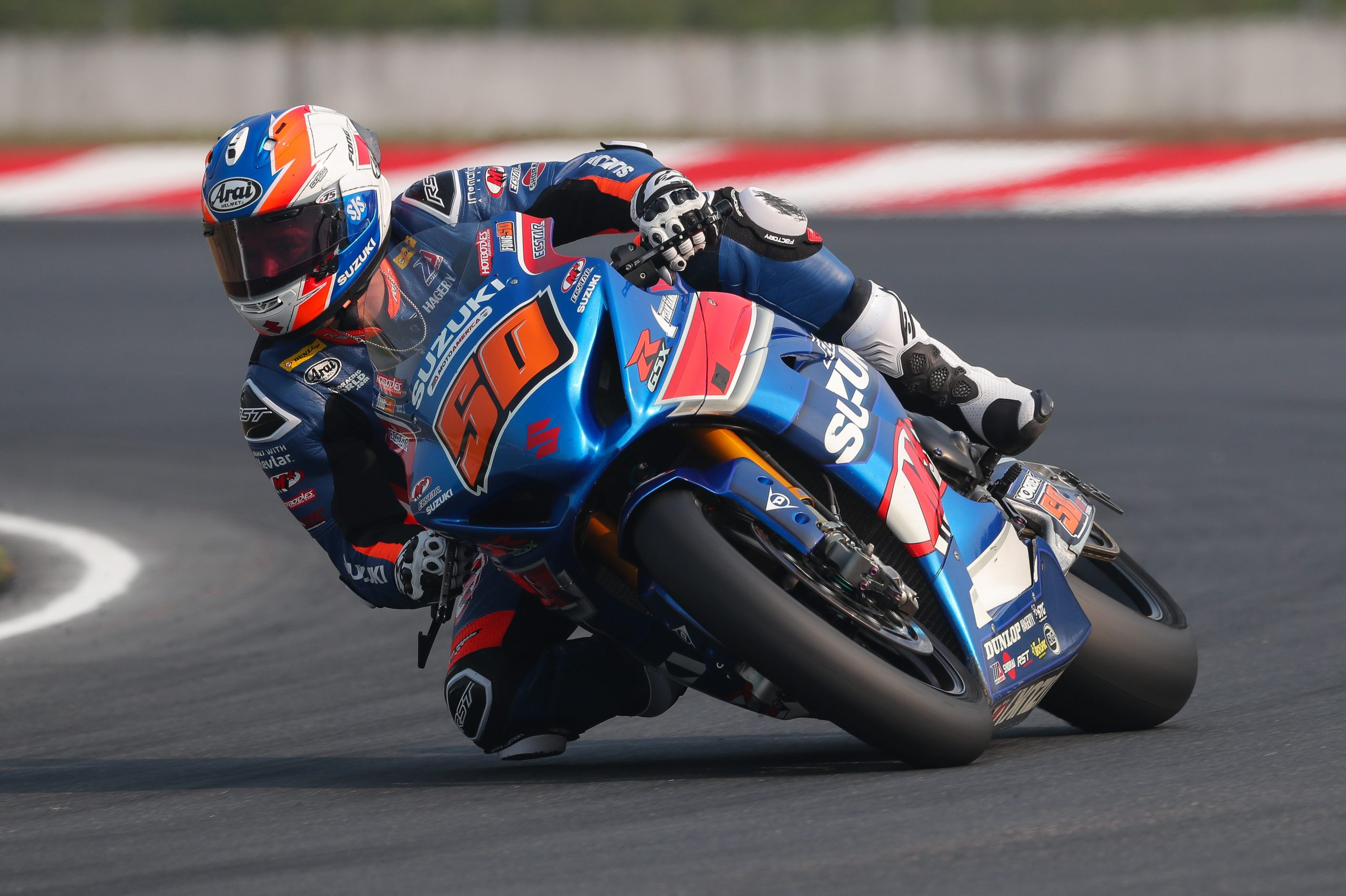 210802 Bobby Fong (50) looked strong with a solid second place finish on his Suzuki GSX-R1000R on Saturday