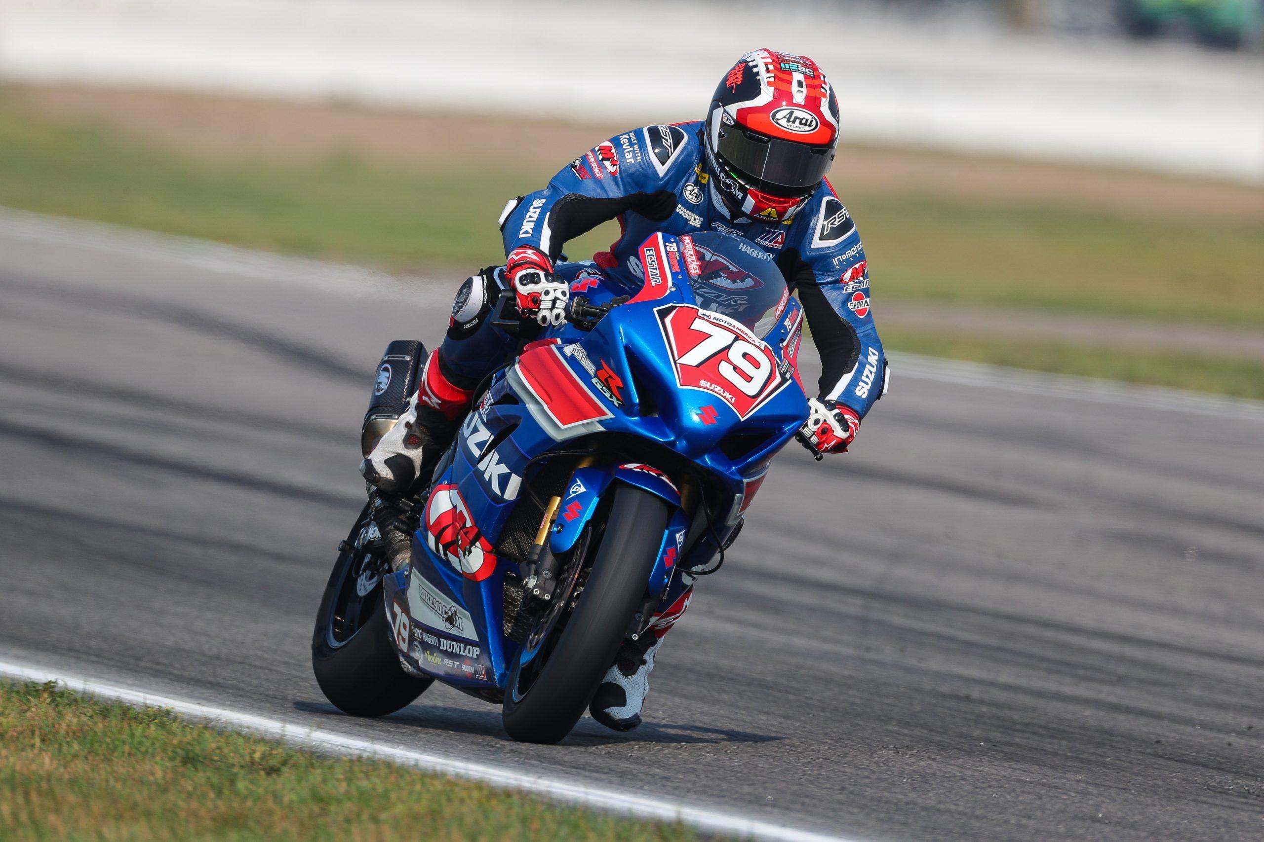210802 Wyatt Farris (79) earned a season-best, seventh-place finish in the MotoAmerica Stock 1000 class