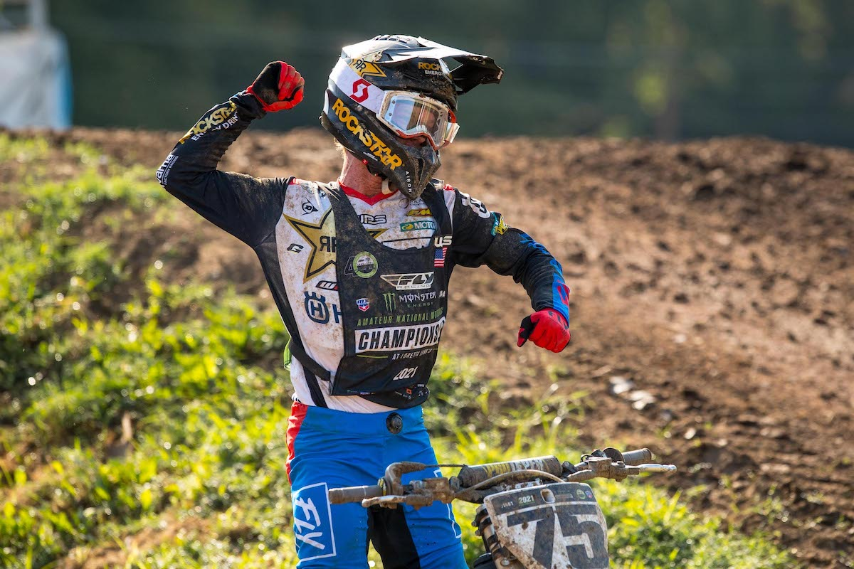 210805 Evan Ferry rebounded from a miscue on Tuesday to take his first moto win of the week