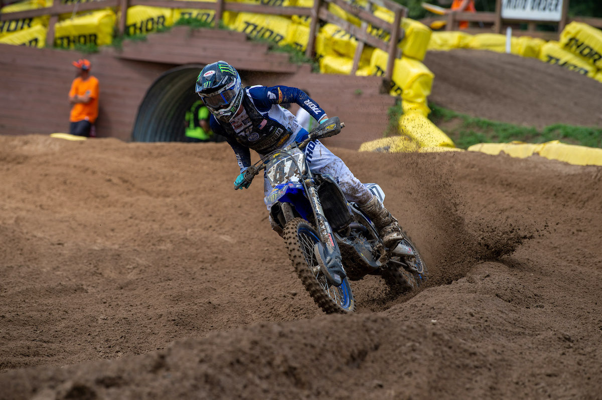 210805 Levi Kitchen rebounded with a emphatic victory in the second 250 Pro Sport moto