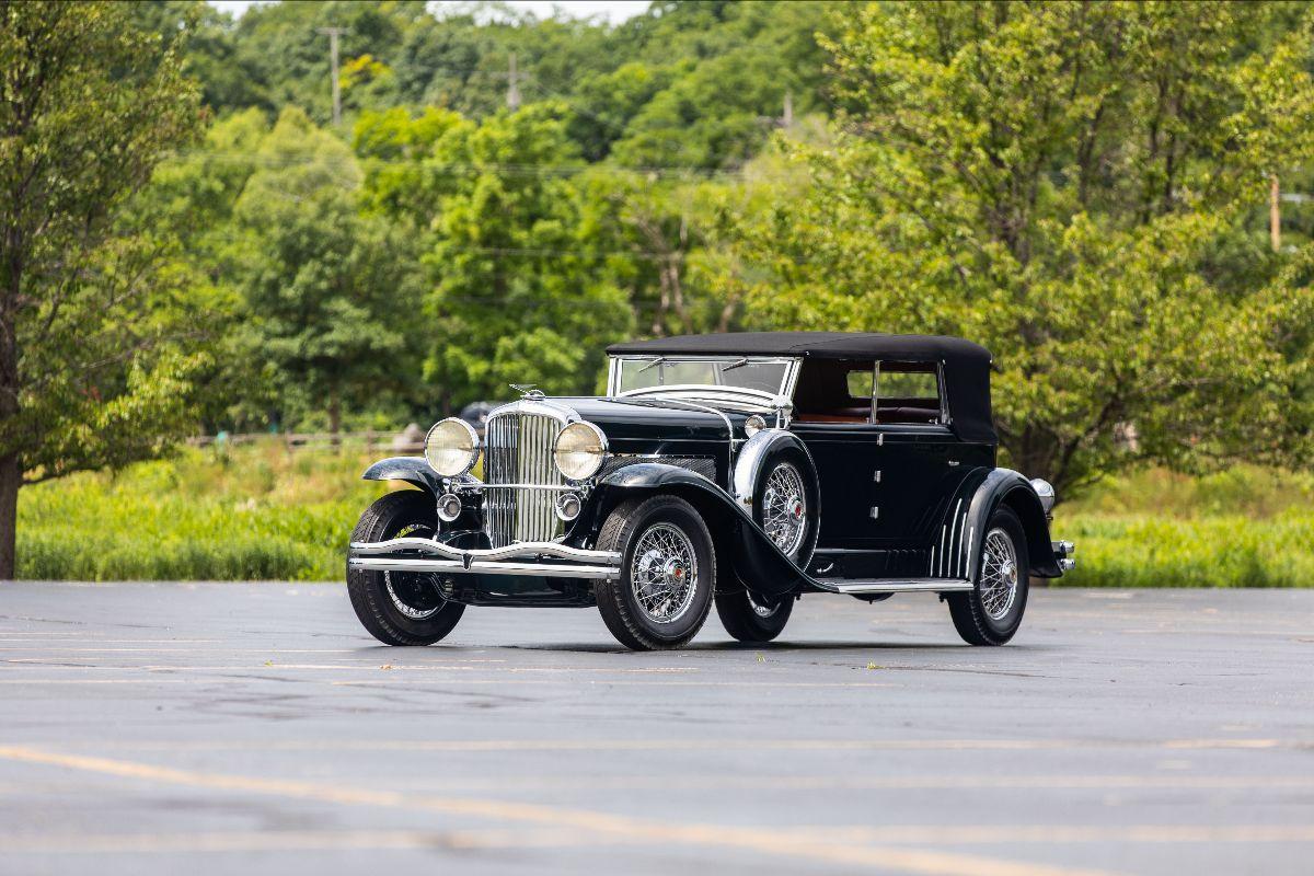 210807 1929 Duesenberg Model J Murphy Convertible Sedan J-225:2245, Best in Class at Pebble Beach (Lot F49)