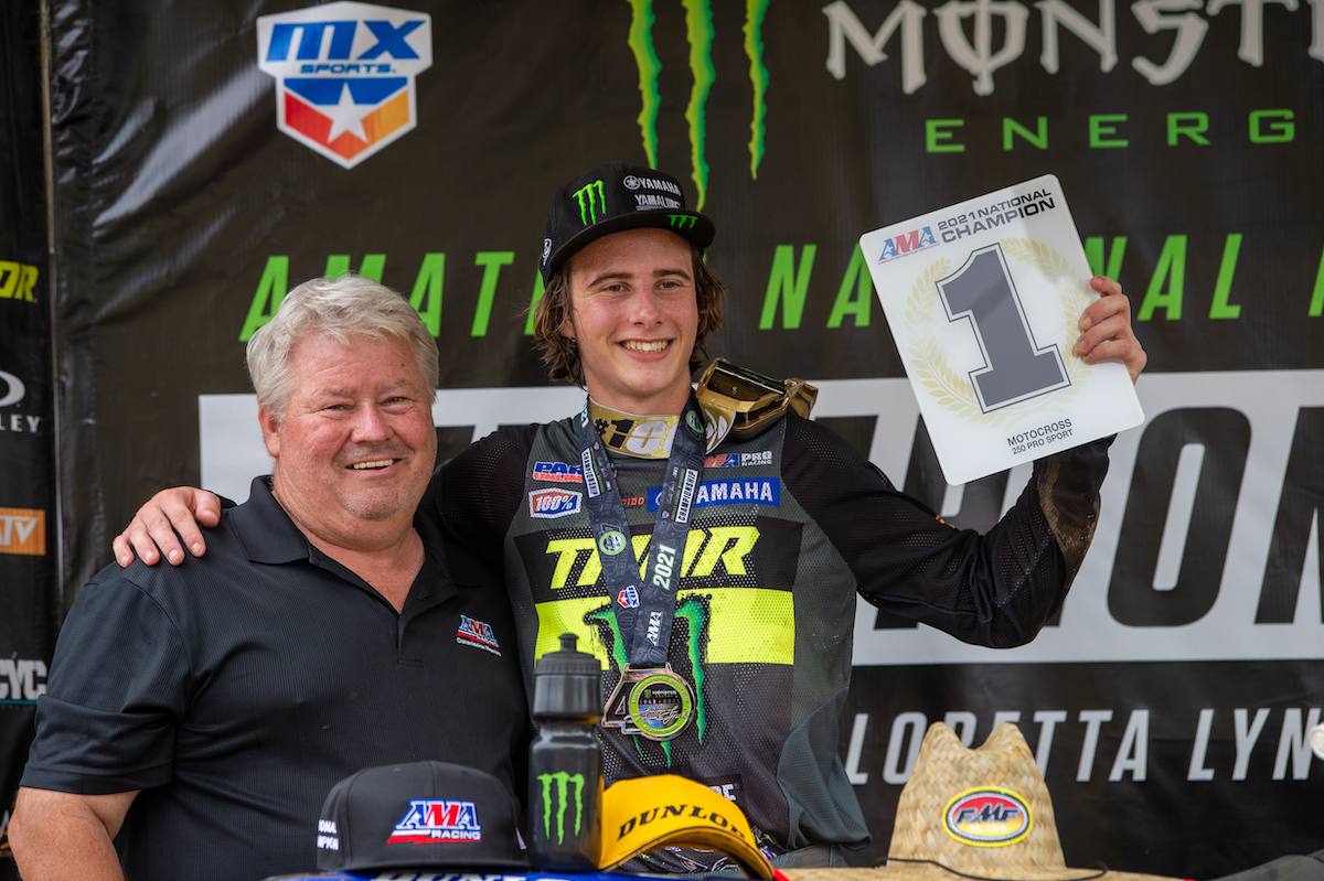 210807 Levi Kitchen earned the AMA National Championship with 3-1-2 moto scores