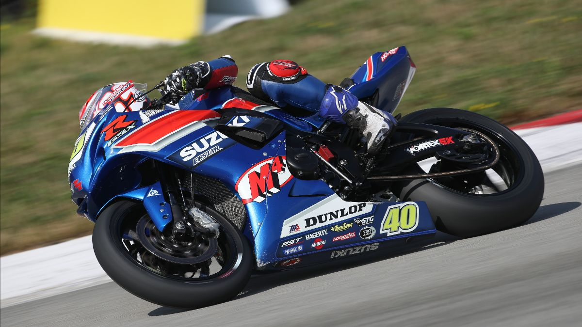 210813 Sean Dylan Kelly led Supersport Q1 on Friday at Pitt Race on his M4 ECSTAR Suzuki.