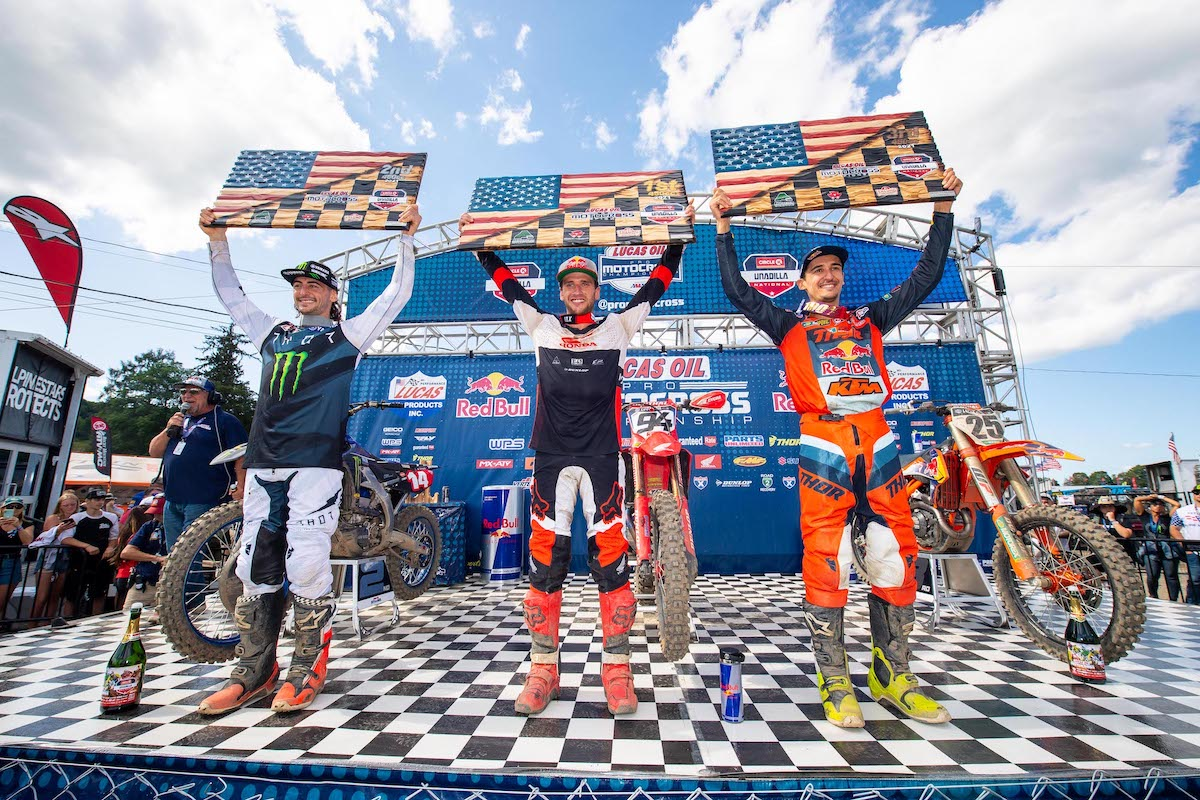 210815 It was an all-international podium in the 450 Class