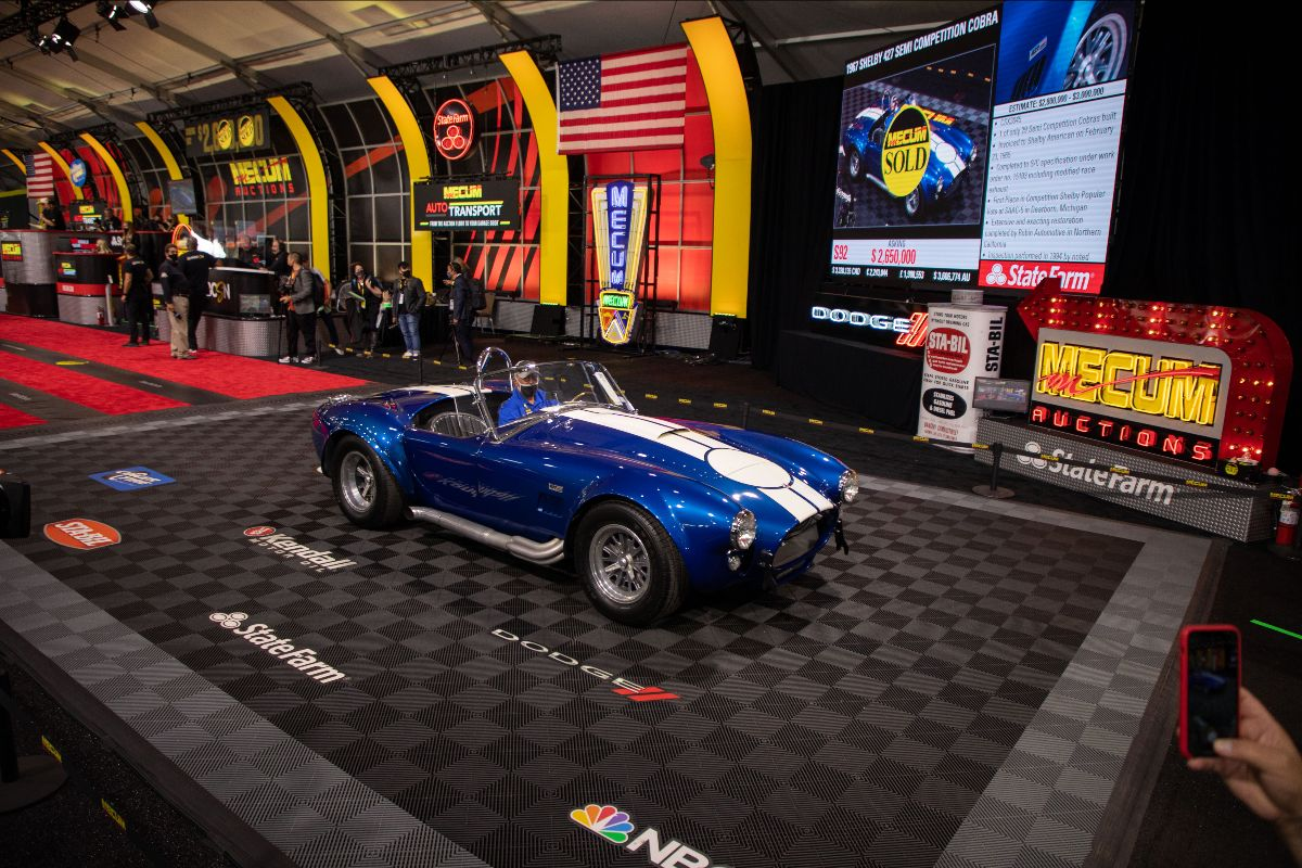 1967 Shelby 427 'Semi Competition' Cobra CSX3045, 1 of 29 Produced (Lot S92) sold at $2,860,000