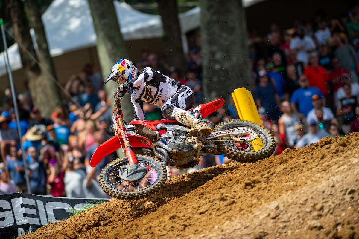 210822 Ken Roczen just missed out securing back-to-back wins with a runner-up finish