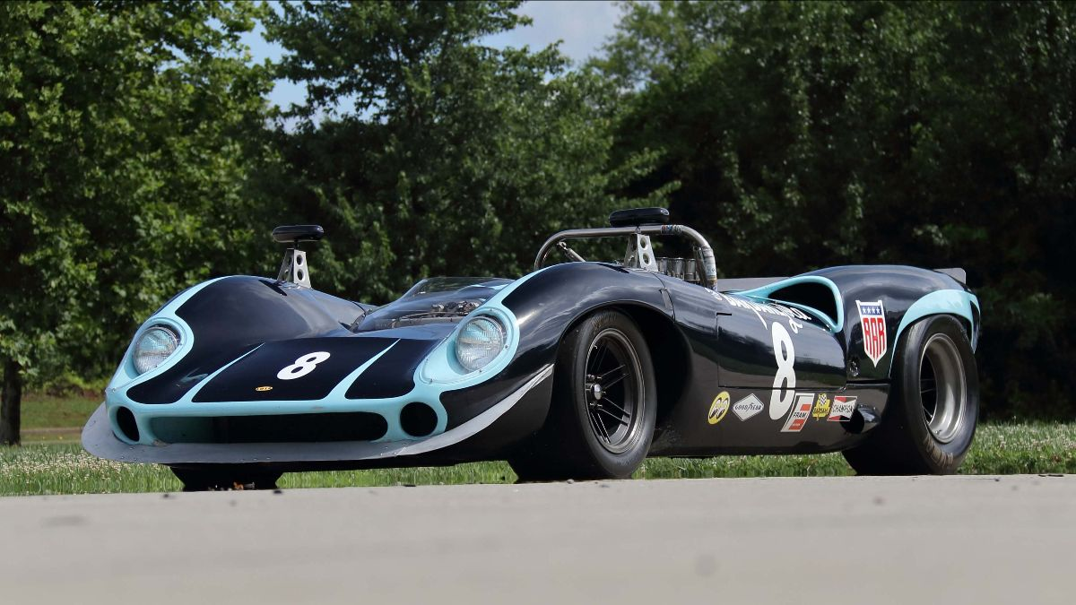1965 Lola T70 MkI Spyder Formerly Owned by Both Carroll Shelby and Dan Gurney (Lot F81) Offered at Mecum Chattanooga 2021