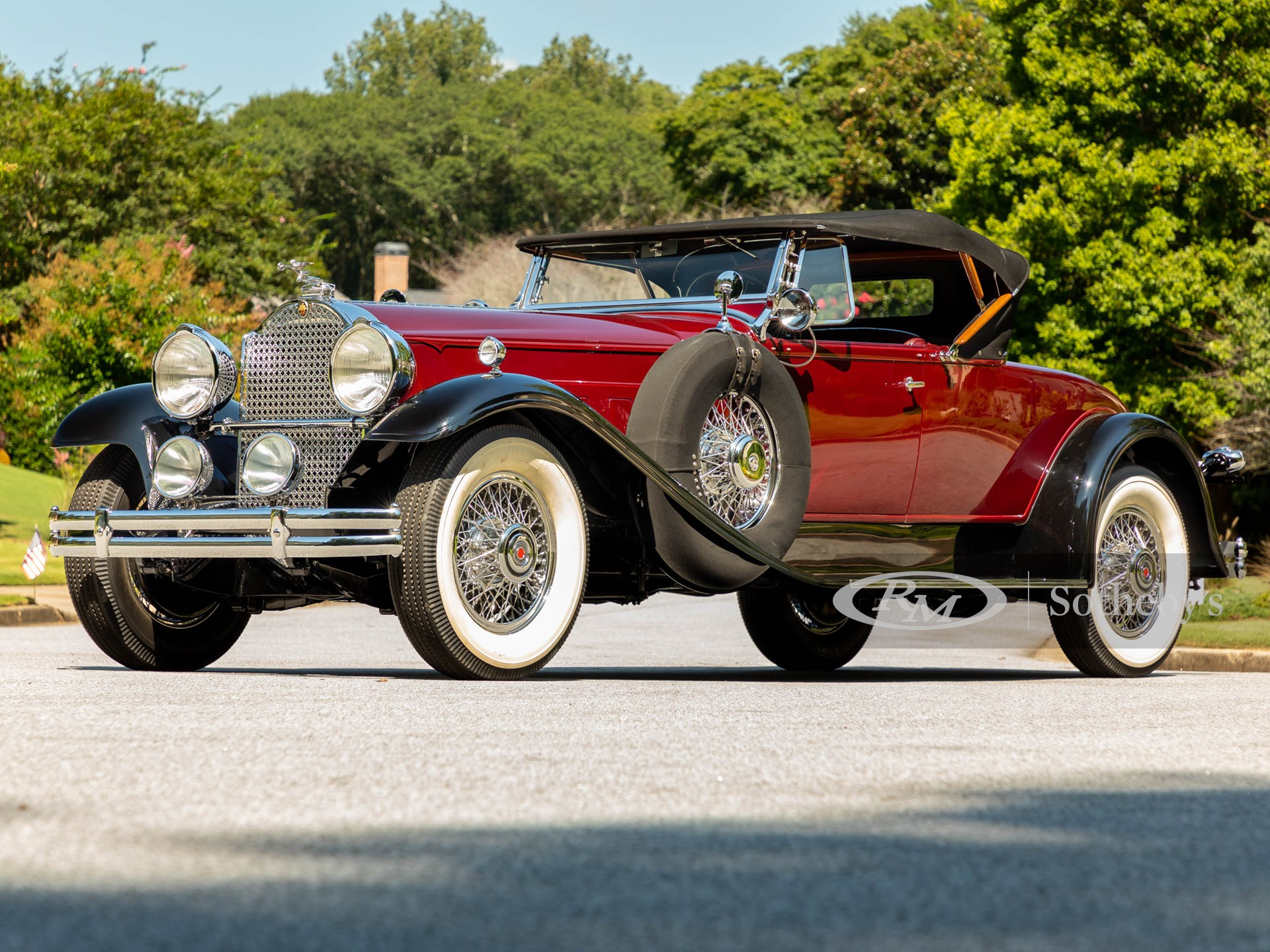 1930 Packard 745 Deluxe Eight Roadster by LeBaron (Alex Stewart ©2021 Courtesy of RM Sotheby's)