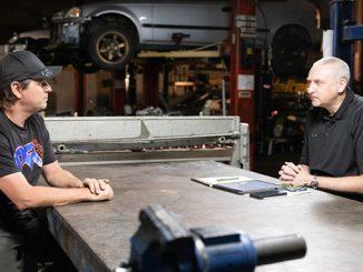 210907 PRI President Dr. Jamie Meyer, right, interviewed PFI Speed Owner Brent Leivestad (678)