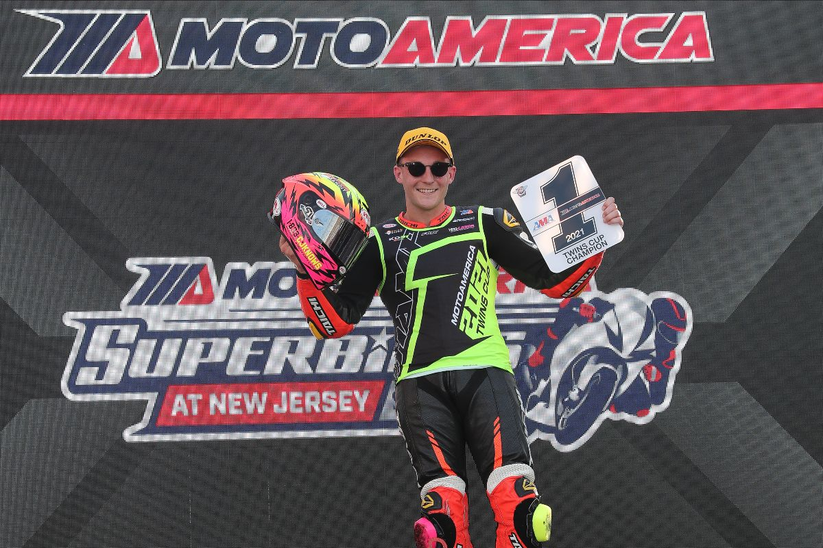 210912 Kaleb De Keyrel's second-place finish was good enough to earn him the Twins Cup title