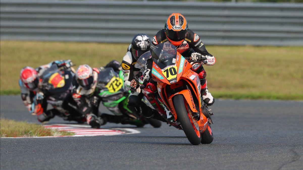 210913 Tyler Scott dominated the SportbikeTrackGear.com Junior Cup race at NJMP