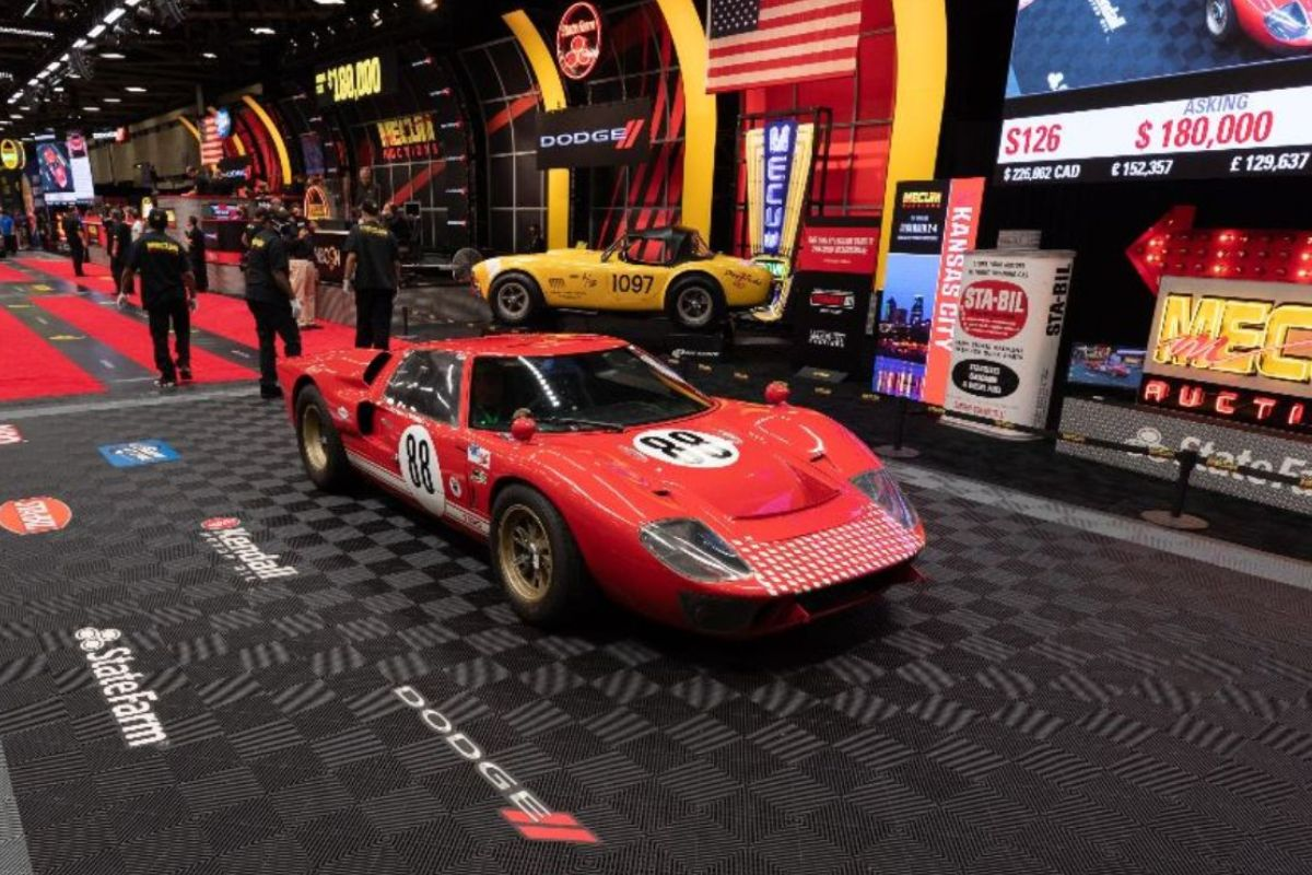 1966 RCR Ford GT40 Replica 1 of 6 Built for 'Ford v Ferrari' (Lot S126) sold at $203,500