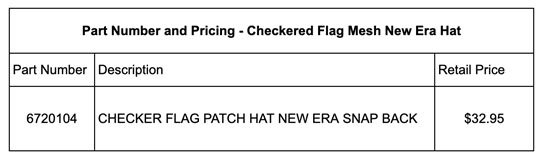210924 New Era Checkered Flag Snapback Hat