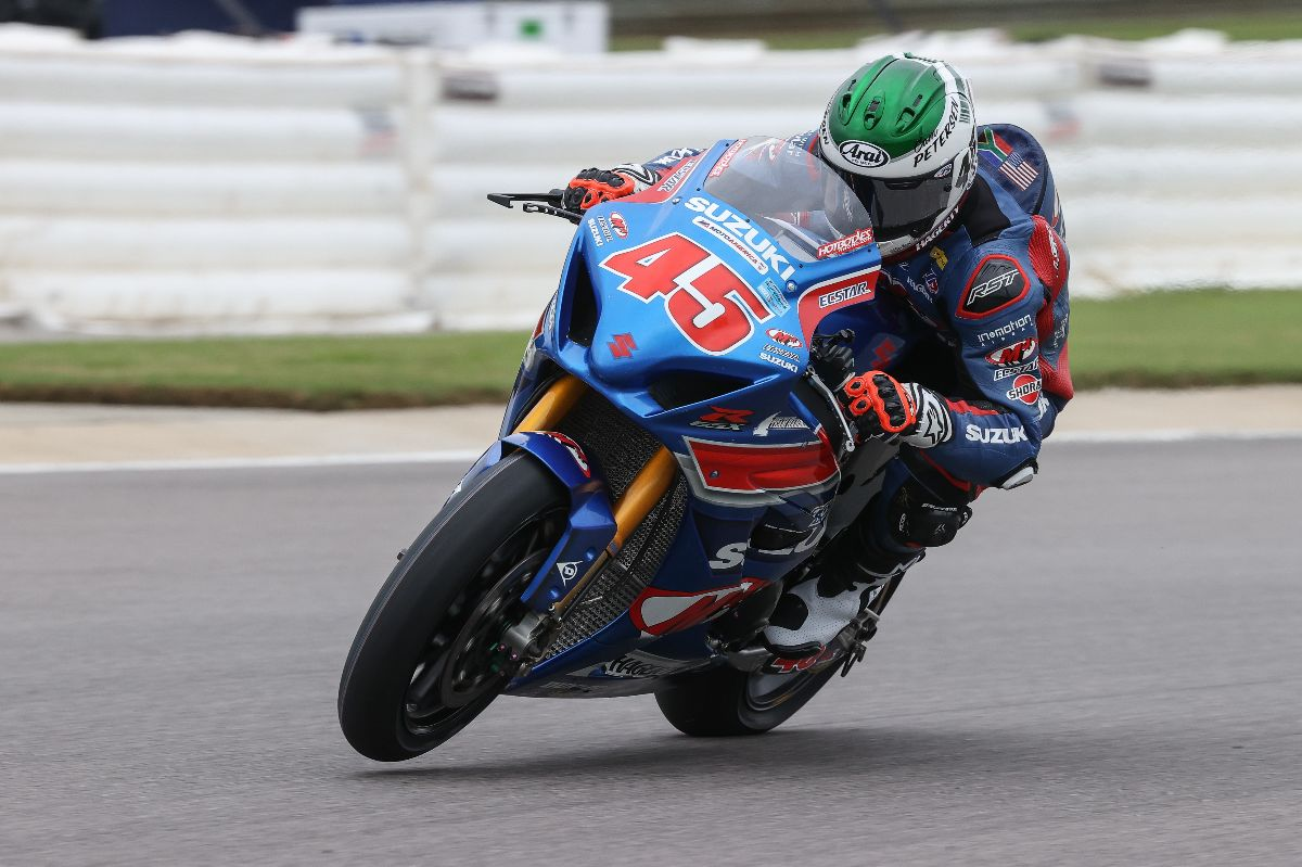 Cameron Petersen led the opening day of qualifying for this weekend's three MotoAmerica HONOS Superbike