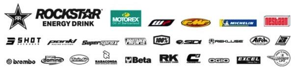 Husqvarna sponsor logos