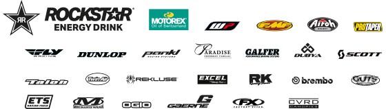 sx Husqvarna sponsor logos