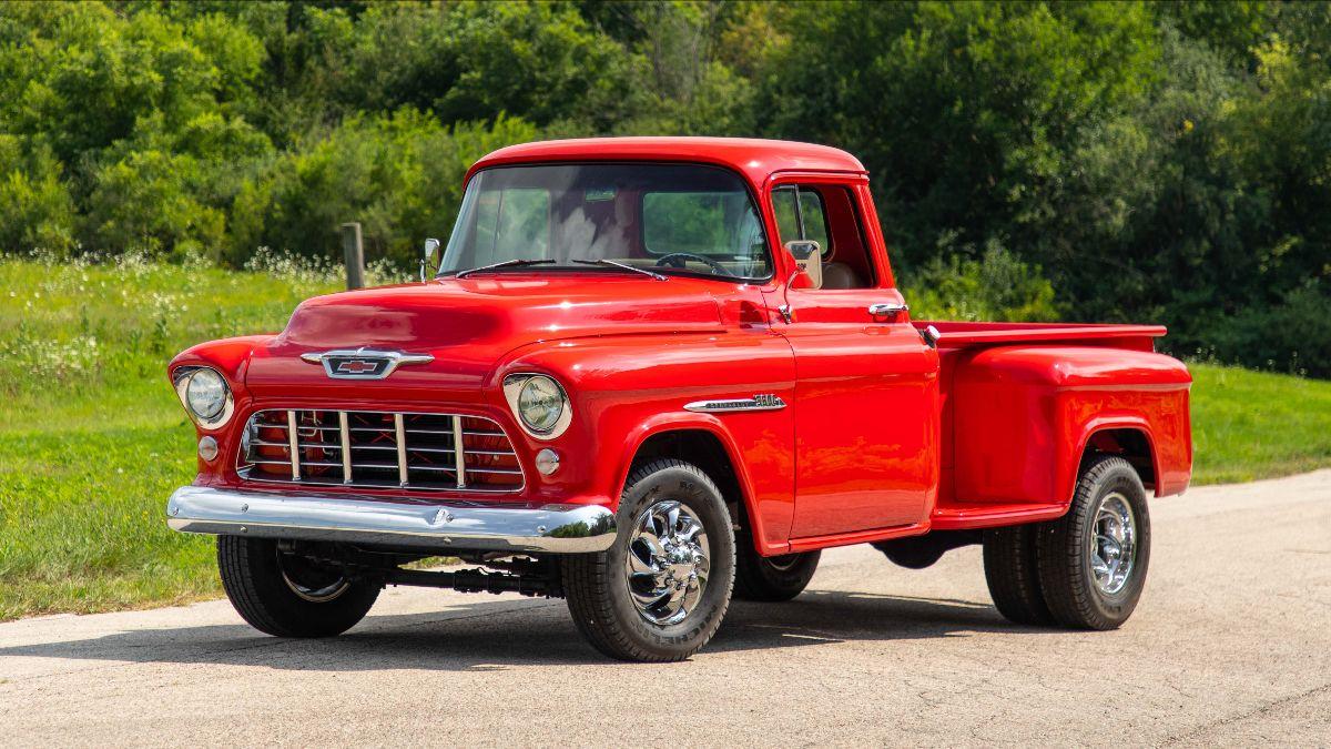 1955 Chevrolet 3800 Pickup 350 CI, 5-Speed (Lot S41)
