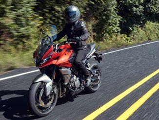 2022 Tiger Sport 660 Standard model Korosi Red - riding (678)