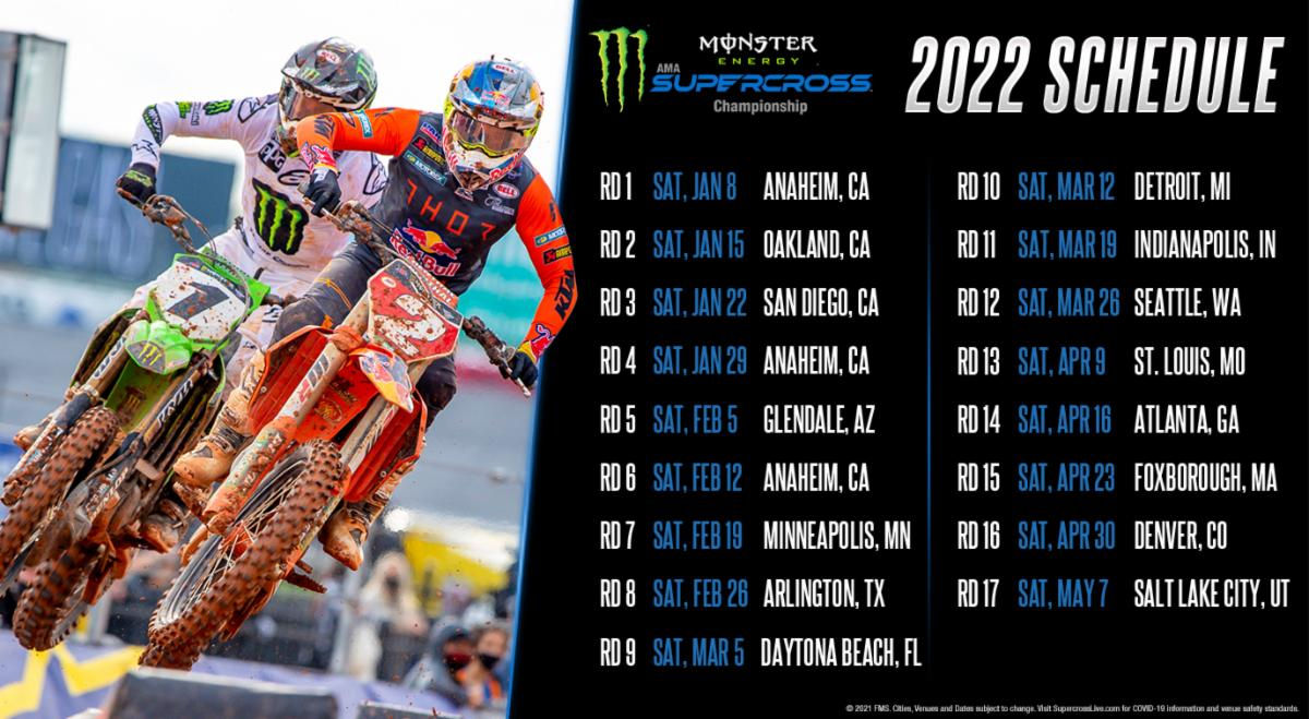 211005 2022 Monster Energy Supercross Schedule