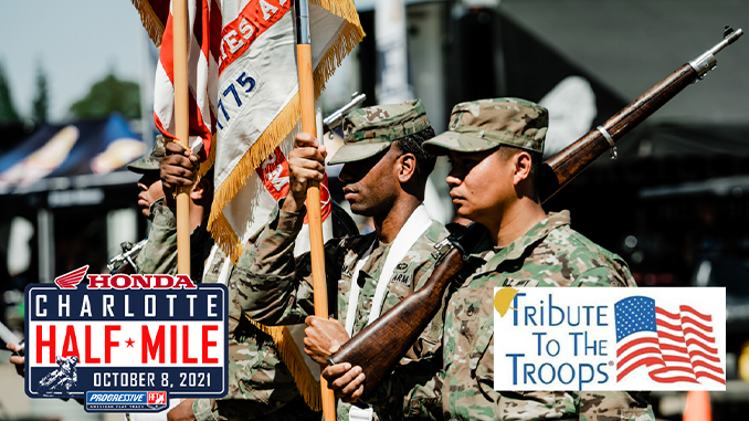 Progressive AFT and Tribute to the Troops to Honor Veterans and Gold Star Family at Charlotte Half-Mile (678)